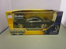 JADA 1/24 BIGTIME MUSCLE BLACK 1969 PLYMOUTH ROAD RUNNER **NEW* IN BOX *ISSUE*
