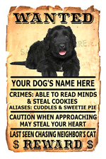 Black Russian Terrier Dog Wanted Poster Flex Fridge Magnet Personalized