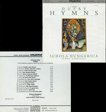 GUILLAUME DUFAY hymns SCHOLA HUNGARICA - SZENDREI