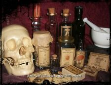 SET of 13 VINTAGE LOOK APOTHECARY Potion Ingredient LABELS Halloween - Primitive
