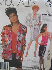McCall's Sewing Pattern--Misses' SHIRT-CAMISOLE-SKIRT--Size: 6-8-10--UNCUT
