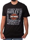Harley Davidson Mens Building Iron B&S Black Short Sleeve Biker T Shirt