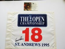 Arnold Palmer SIGNED 1995 British Open Flag- Global Authentic Certified