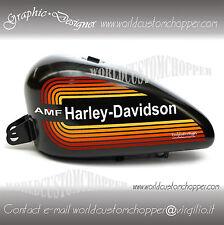 ADESIVI DECAL STICKERS AMF HARLEY DAVIDSON  STILE RETRO' X SERBATOIO MOTO CUSTOM
