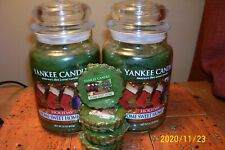yankee candle 2-22oz JARS HOLIDAY HOME SWEET HOME + 4 TARTS