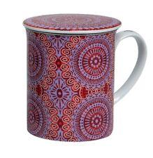sonji Rojo Taza de té con filtro y tapa PORCELANA