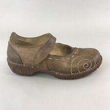El Naturalista Brown Leather Slip On Mary Jane Clogs Wedge Sandals Shoes 40 UK7