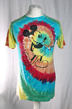 Disney Mickey Mouse Tie Dye Festivall T Shirt Size Small VGC!