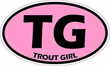 Trout Girl Fly Fishing Vinyl Sticker Decal *FREE SHIPPING*