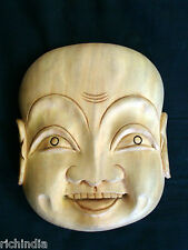 Wood Mask Happy ma  Smile wooden Handicraft,Handmade,Home decore,gift,India art