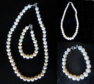 "Fresh water pearl Necklace / bracelet SET Necklace 20"" long, bracelet 9.5"" long"
