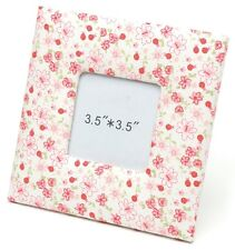Red & White Floral design Fabric Photo Frame