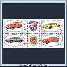 1985 Italia Repubblica Blocco Auto 3ª n. 1706/1709 **