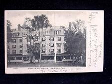 1909 College Arms De Land FL post card Albertype