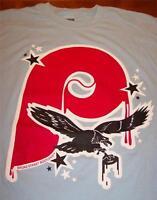 VINTAGE STYLE PHILADELPHIA BROAD STREET ART T-shirt SMALL PHILLIES EAGLES