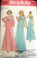 Simplicity sewing pattern no.7269 Ladies dress & jacket size 12  vintage
