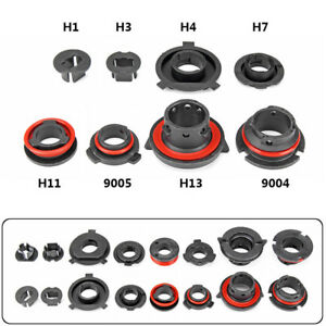 4X H7 H4 H3 H1 H11 H13 9004 9005 9006 LED headlight Adapter Holder Base Bulbs
