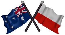 australia POLAND flag decal size 130mm by 73mm gloss laminated contour cut