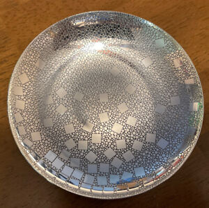 Tiffany & Co 925 Sterling Silver Checkered Candy Nut Dish Bowl~Squares~Spain ❤️