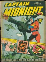 Captain Midnight 6 VG - Fawcett German Nazi World War 2 cover 1943  estate find