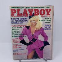 Playboy Magazine December 1984 Suzanne Somers, Paul & Linda McCartney