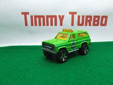 Chevy Blazer 4 x 4 il capo in Verde 1989 MATCHBOX 75 mm di lunghezza