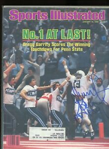GREGG GARRITY PENN ST NITTANY LIONS SPORTS ILLUSTRATED signed autographed