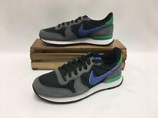 Nike Internationalist Running Shoes Grey Black Blue 828407-019 Women's Size 5.5