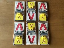 4 - Victor Mouse Traps - M325 - Snap Trap - Large Yellow Trip Plate