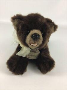 "Yomiko Classics Grizzly Bear 10"" Plush Bean Bag Stuffed Animal Toy Russ Berrie"