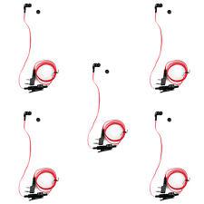 5x Headset Earpiece For Kenwood BAOFENG TYT LINTON UV-5R TG-UV2 Two Way Red UE
