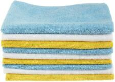 Premium Basics Blue and Yellow Microfiber Cleaning Cloth, 24-Pack