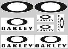 OAKLEY STICKER SETS - SHEET OF 8 STICKERS - DECALS