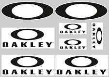 OAKLEY STICKER SETS - SHEET OF 8 STICKERS - DECALS