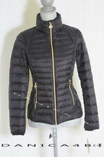 Michael Kors Stand Collar MK Logo Packable Down Quilted Jacket Coat Large Black