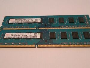 ✅8GB(2x4GB) SK HYNIX DDR3-1333 2Rx8 PC3-10600U-9-11-B1 HMT351U6CFR8C Desktop RAM