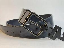 Coach Men's Wide Harness Cut-To-Size Reversible Belt Blue Camo Print Blue Multi