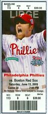 2009 Phillies vs Red Sox Ticket: Raul Ibanez, Jayson Werth, Pedro Feliz hit HRs