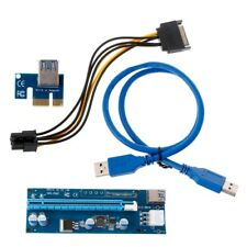 PCI-E 1X To 16X Riser Card With 6Pin SATA Power Supply 60cm USB3.0 Adapter Cable