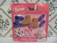 "Mattel Barbie Shoes - Little Extras ""Sporty Shoes "" ""NEW"" MIP 6 Pairs"