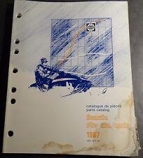 1987 SKI-DOO SKANDIC R SNOWMOBILE PARTS MANUAL P/N 480 1215 00   (330)