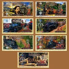 POLYMER SET El Club De La Moneda 1;2;5;10;15;20;50 2017 > Railroad, Trains