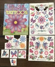 Fantasy Garden Temporary Tattoo Pack (Some Used) Flower Butterfly Unicorn Fairy