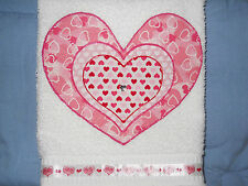 Valentine's Day Hand Towel Bathroom or Kitchen Layers of the Heart New