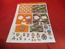 Nintendo Japan Prmotinl Sticker Sheet Game Boy Advance SP Skin Wario Ware