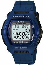 Casio Hdd-600c-2a Mens Digital 100m WR Watch Blue Sport 10 Year Battery