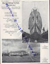 HAMBURG, Werbung 1930, Blohm & Voss Bau-Werft Norddeutsche Lloyd Dampfer