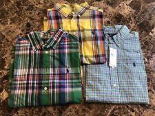 Ralph Lauren Plaid Cotton Oxford Shirt Boys sz Large