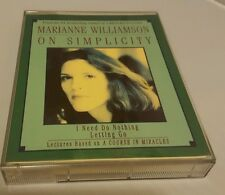 Marianne Williamson on Simplicity 1997 Audio Tape Cassette Course in Miracles