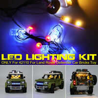 LED Light Lighting Kit ONLY For LEGO 42110 For Land Rover Defender Car Bricks *
